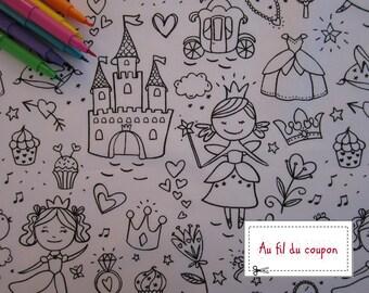"Fabric color 100% cotton ""Fairy"""