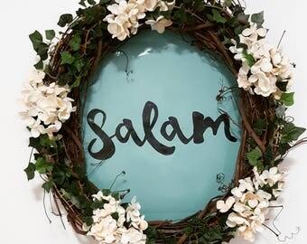 Floral Salam Wreath