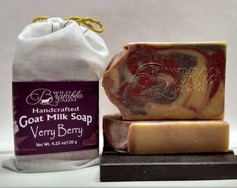 Verry Berry Goat Milk Soap 4.25 oz bar