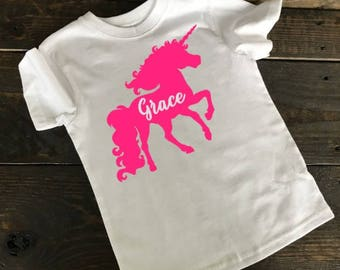 Girls Shirt, Unicorn Shirt, Unicorn