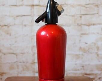 Sparklets BOC Metallic Red Soda Syphon