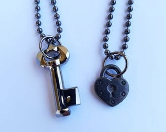 Key & Heart Necklaces