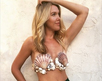 Mermaid Shell Bra- MEDIUM