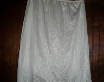 Vintage White Nylon Half Slip Size M
