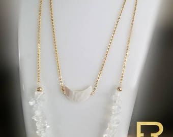 Opal Shell pearl necklace