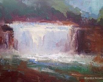 Weisenberger Mill, Original Landscape Oil Painting by René, Fine Art Paintings, Cloud Painting, Cloudscape, Wall Art, Original Art