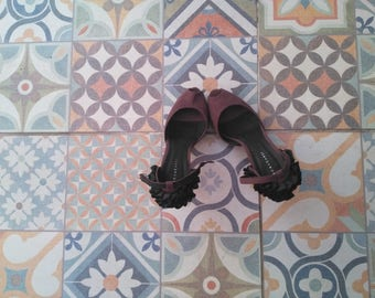 Sexy vintage heels straps 7cm T39