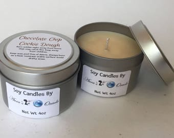 Chocolate Chip Cookie Dough 4oz Soy Candle