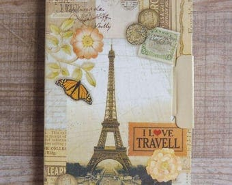 "Notebook ""Romantic traveler"" with vintage style designs available more drawings listed separately"