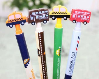 Ballpoint pens with imitation of vehicles (taxi-bus)