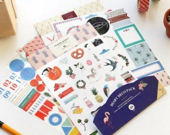 Stickers Deco Pack 9 sheets (6) Diary set