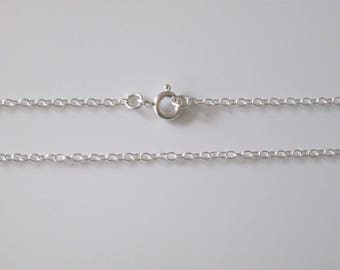 "925 Sterling Silver Fine Trace 1.5mm Necklace Chain 15"" 16"" 17"" 18"" 19"" 20"" 22"" 24"" 26"" 28"" 30"""