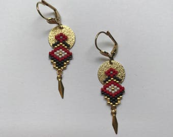 ∎ LILY ∎ earrings - red and black tones