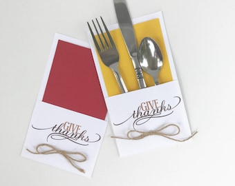 Give thanks utensil holders