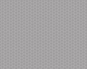 Gray Dot Fabric - Riley Blake Honeycomb Dot - Gray on Gray Dot Fabric - Tonal Gray