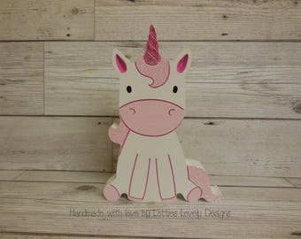 Decorative pretty unicorn ornament for bedroom nursery or any unicorn fan