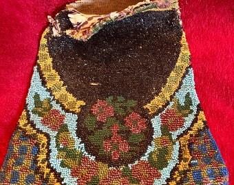 Antique Victorian beaded purse