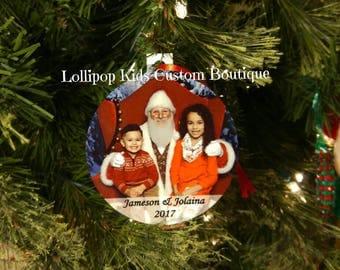 Photo keepsake Christmas ornament