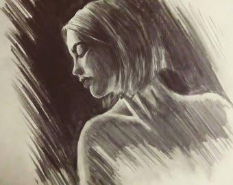 a3 pencil portrait girl