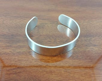 Plain Aluminium Cuff Bracelet