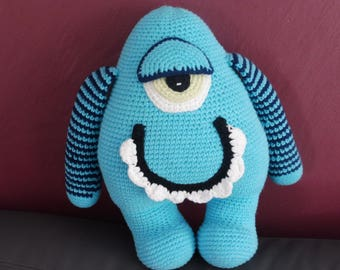 Baby child blue amigurumi Monster Plushie