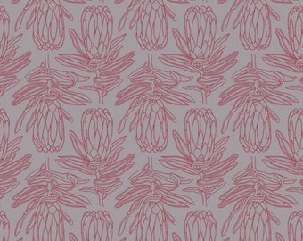 Fabric with Protea print - Printed African Fabric by Design Team Fabrics