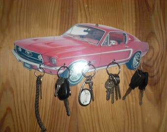 FORD MUSTANG / key wall ford mustang, hanging keys wall ford mustang, vintage ford mustang custom, personalized gift