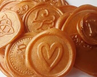 "Simple Heart modern party invitation self adhesive wax seal peel sticker 3/4"" x5"