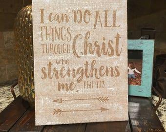 Philippians 4:13 Scripture Art