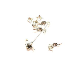10 kits Cup teapot (suitable for bead 8mm - 10 mm) antique silver bead