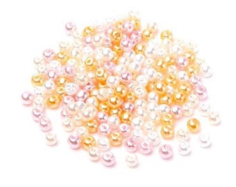 50 pearls Pearly 6 mm in different colors by theme wedding