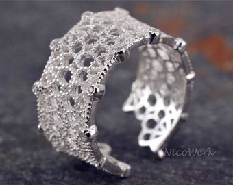 Bohemia ring Silver 925 adjustable silver ring women's rings ladies jewelry SRI213