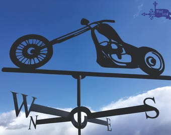 MOTORCYCLE Metal Plasmacut Wind Direction Roof Decor
