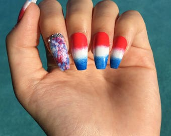 July 4th press on nails