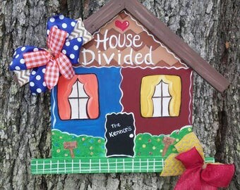 House Divided Gators and FSU Door Sign