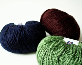 Superwash Wool, Aran Weight, Knitting Wool, Crochet Wool, Debbie Bliss Blue Face Leicester Bulky