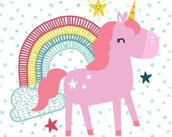 Unicorn Printable. Nursery Decor. Unicorn Nursery Wall Art. Unicorn Nursery Art. Unicorn Nursery Prints. Unicorn Nursery Printable Art