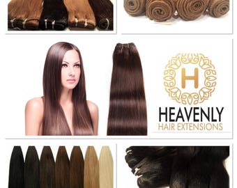 100% Human Hair Extensions 100g wefts in a range of colours