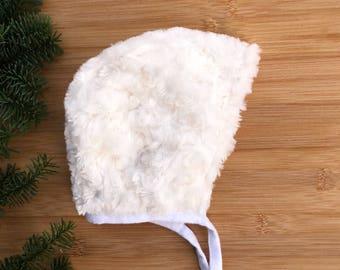 Warm -plush-winter baby bonnet