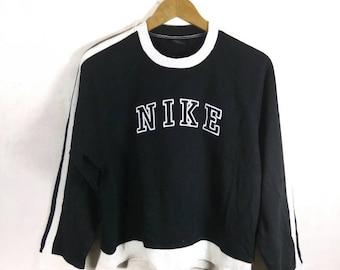 RARE! Vintage NIKE sweatshirt. Big spell out. Black colour.