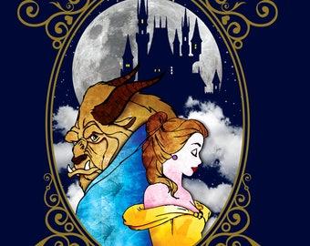 Beauty And The Beast shirt, Disney shirt, Belle shirt, Princess Shirt, Girls Beauty and the Beast Shirt, Girls Tee, Beauty and the Beast art