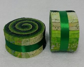 Batik Jelly Roll - Green Tones