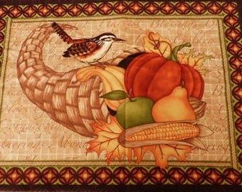 Fabric patchwork/decorating 1 bird and fruit 2 tile