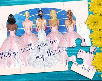 Bridesmaid Proposal, Will You Be My Bridesmaid Puzzle, Bridesmaid Proposal Box, Maid of Honor Proposal, Asking Bridesmaid, Bridal Puzzle