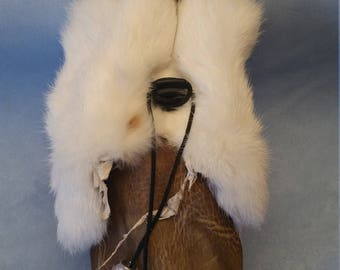 Deer Skin and Rabbit Fur Pouch