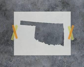 Oklahoma State Stencil - Hand Drawn Reusable Mylar Stencil Template