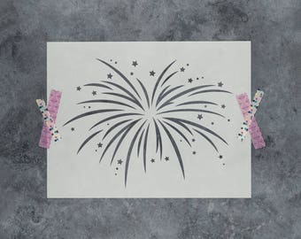 Fireworks Stencil - Reusable DIY Craft Stencils of Fireworks