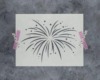 Fireworks Stencil - Reusable DIY Craft Stencils of Fireworks