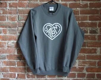 Salem! Heart Sweatshirt - Gray