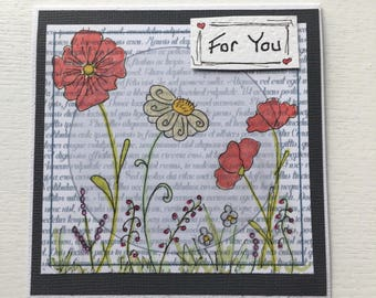 For You - handmade card